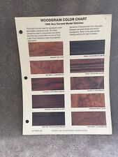 1980-1984 FORD LINCOLN MERCURY CARS AND TRUCKS WOODGRAIN COLOR CHART