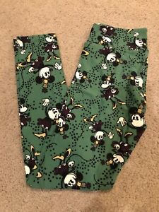 LulaRoe OS Leggings Disney Collection Minnie Mouse Classic Deep Green One Size