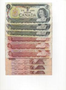 1 Dollar 1973 2 Dollars 1974 2 Dollars 1986 Bank of Canada