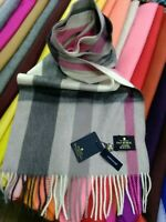 100% Cashmere Scarf | House of Balmoral | Flisk Pink | Long and Soft | Bright