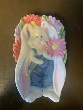 """""""Fitz And Floyd"""" Spring Blooms Ceramic Rabbit Spring Easter Themed."""