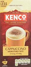 Kenco Cappuccino Unsweetened Instant Coffee (Case of 5, Total of 40 Servings)