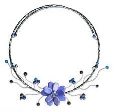 Lapis Lazuli Choker Beaded Necklace Handmade 'Blue Bouquet' NOVICA Thailand