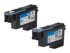 GENUINE 2013 DATE HP 88 PRINTHEADS C9381A BLACK & YELLOW + C9382A CYAN & MAGENTA