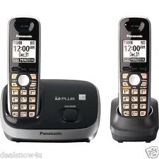 Dect 6 Plus Expandable Cordless Phone System 2 Handsets Talk Page and Call Block