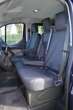 Ford TRANSIT Van 2014+ Tailored & Waterproof Front Black Seat Covers UK MADE