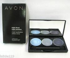 Avon Triple Threat Cream Eyeshadow Palette, OCEAN TONES, 3 Shades of Blue, NIB