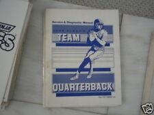 TEAM QUARTERBACK JOHN ELWAY'S LELAND video game manual