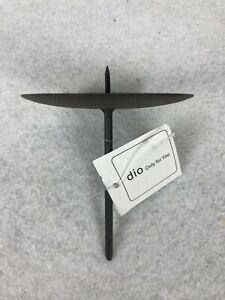 4 x Kerzenhalter Kerzenstecker schwarz Kerzenpick  Advent Gesteck M Ø 7,5 cm