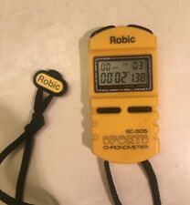 Robic SC-505 12 Memory Stopwatch Yellow - New Battery
