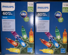 Two Boxes Nib Philips 60 Multi Mini Led Lights 19.6 ft Lighted Length