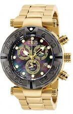 New Mens Invicta 90240 Reserve Subaqua Noma Swiss Chronograph Gold Tone Watch