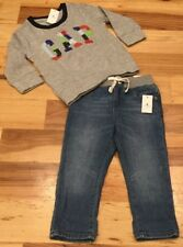 Baby Gap Boys 18-24 Months Outfit. Gray GAP Logo Shirt & Soft Denim Jeans. Nwt