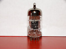 1 x 12AT7 Tung-Sol (USA) Tube*Black Plates*Tested on TV-7*Very Strong&Balanced*