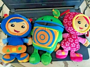 "Team Umizoomi milli Bot and Geo 9"" plush toy Gift 3pcs"