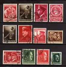 4526-GERMAN EMPIRE-Third reich.1938-44.WW2.Deutsches reich ADOLF HITLER Lot USED