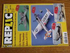 $$$ Revue Replic N°83 CAC BoomerangF-84G ThunderjetJunkers Ju 87 D-5