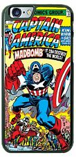 Custom Captain America MadBomb Phone Cover Case for iPhone Samsung HTC LG iPod