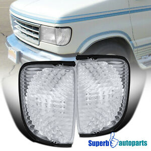 For 1992-2007 Ford Econoline Van Corner Turn Signal Lights Lamps 92-07 E150 E250