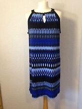 Apt.9 bleu à motifs Jersey Dos Nu Robe/Tunique L (16)