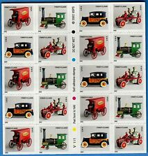 2002 ANTIQUE TOYS MNH Mint Booklet 20 Nondenominated Stamps #3626-3629 Cast-Iron