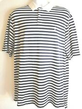 Polo Ralph Lauren Golf Fit Striped NAVY/WHITE/BABY BLUE HORSE Men's XL