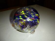 """Hanging Glass Ball 6"""" Diameter Witch Ball Red Yellow Blue"""