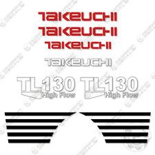 Takeuchi TL 130 Mini Escavatore Decalcomanie Equipaggiamento TL130 TL-130