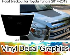 for 2014-2020 Toyota Tundra 3 Gen blackout HOOD vinyl cover decal wrap graphics