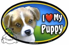 I Love My Puppy Dog Car Magnet Scandical Heart Realistic Pet Puppy Fun NWT