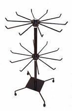 Deluxe 20 Inch Black Spinning Display Wire Rack new 2 level counter hanging tall
