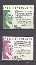 PHILIPPINES , 1963/73 , PRES. QUIRINO , SET OF 2 ,  PERF,  MNH