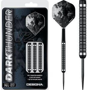 Dark Thunder V2 Darts Set 20g 22g 24g 26g 28g 30g grams 90% Tungsten Designa