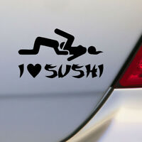 1x 12*6cm I Love Sushi Decal Funny Auto Car Truck PET Sticker Window Decoration