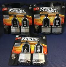 3-2pks Master Lock M1Xtlf Laminated Steel Padlock w/ 4-Pin Cylinder, 1-3/4�