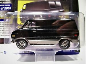 Johnny Lightning Blacked Out 1976 Chevy G20 Van #3 Version A, Street Freaks 1:64