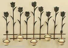 "Tulip Tealight Candle Holder Metal Sconce 3D Wall Art Spring Floral 20""x14"""