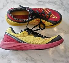 Brooks Green Silence Men Athletic Running Sneaker Red/Yellow Shoe Sz 6.5M