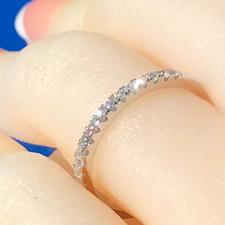 Ring 925, matching band, wedding ring, simulated diamond ring, valentine gift