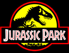 Jurassic Park Movie Logo Iron On Tee T-Shirt Transfert A5