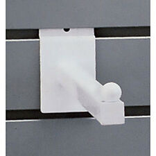New Retails White 12 Inch Straight 3/4 Inch Square Tubing Faceout for Slatwall