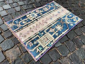Patchwork Rug Small rug, Vintage rug, Wool, Home decor, Bath rugs | 1,7 x 2,8 ft