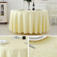 Jacquard Round Table Cloth Wedding Banquet Table Cover Circle Tablecloth Home