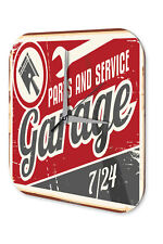 Wall Clock Nostalgic Car Retro  Service Garage Vintage Decoration