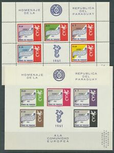 [PG10] Paraguay 1961 Europa sheets VF MNH perf and imperf value $75