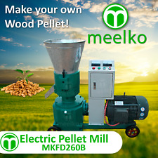"PELLET MILL 15kw  ELECTRIC ENGINE 10"" DIE 3 PHASE USA STOCK (6mm WOOD)"