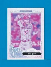 MIKE TROUT 2017 Topps Gypsy Queen GUM AD BACK MISSING BLACKPLATE Variation SSP