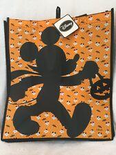 Disney Halloween Orange Mickey Mouse Shadow Trick or Treat Tote Bag Ghost Bats