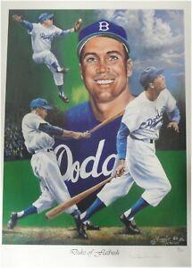 Duke Snider Signed Autographed 18x24 Poster Los Angeles Dodgers Pencil JSA