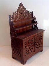 ancien petit meuble bois découpé,étagère,buffet poupée,Napoléon III,XIXE,